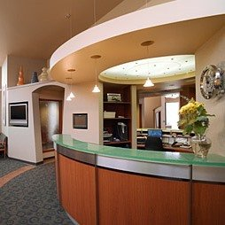The front desk of Nelson Orthodontics in Ballard. Dr Nelson a Seattle Orthodontist