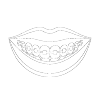 Icon of teeth illustrating traditional metal braces provided by your seattle orthodontist for straightening your smile.
