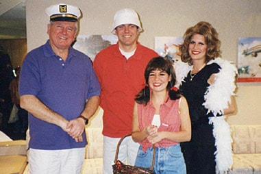 The group at Nelson Orthodontics dressed as the cast of Gilligan's Island.
