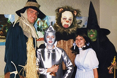 The group at Nelson Orthodontics dressed up as the cast of Wizard of Oz