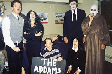 The team at Nelson Orthodontics dressed up as The Addams Family