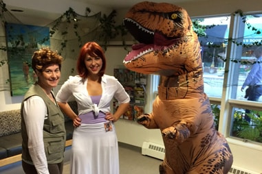 The team at Nelson Orthodontics dressed up as the cast of Jurassic World.
