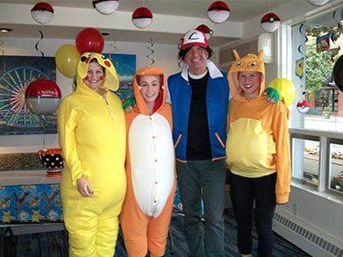 Your Nelson Orthodontics team dressed up as Pokemon for Halloween of 2016